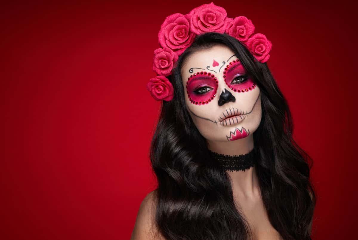 day of dead skull makeup