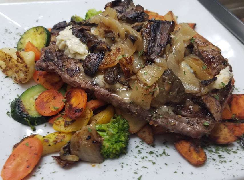 Smothered & Covered Grilled Ribeye