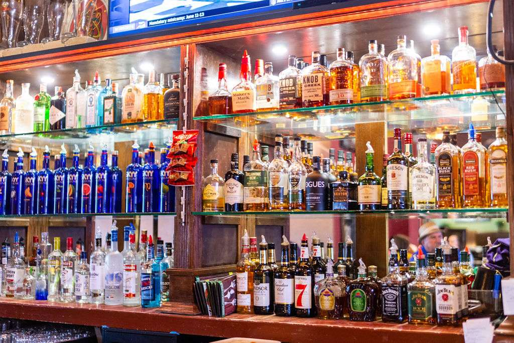 liquor and beer selections
