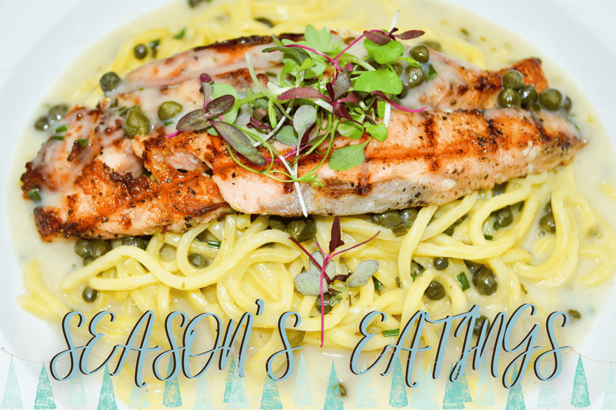 Salmon Lemon and Capers Sauce Pasta Combo Meal