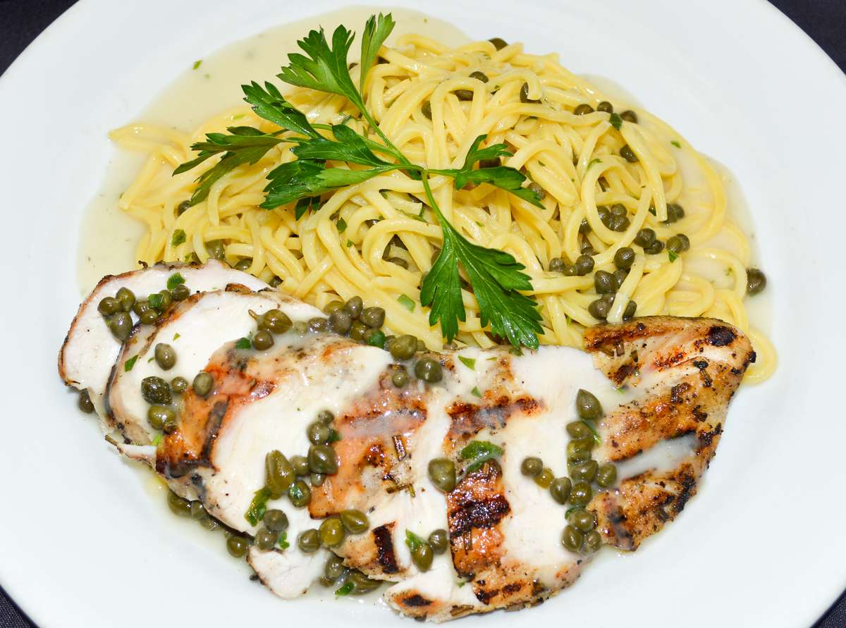 Chicken Lemon and Capers Pasta Combo Meal