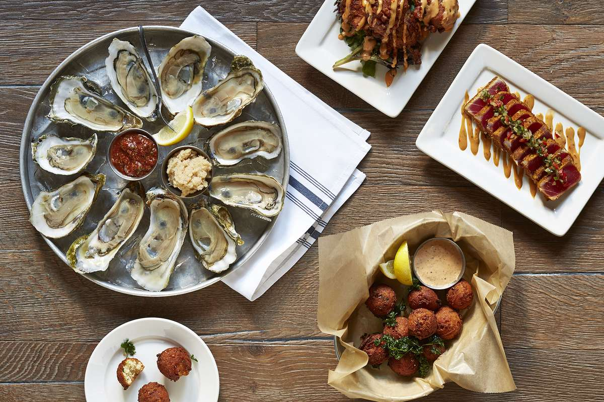 oysters and hushpuppies