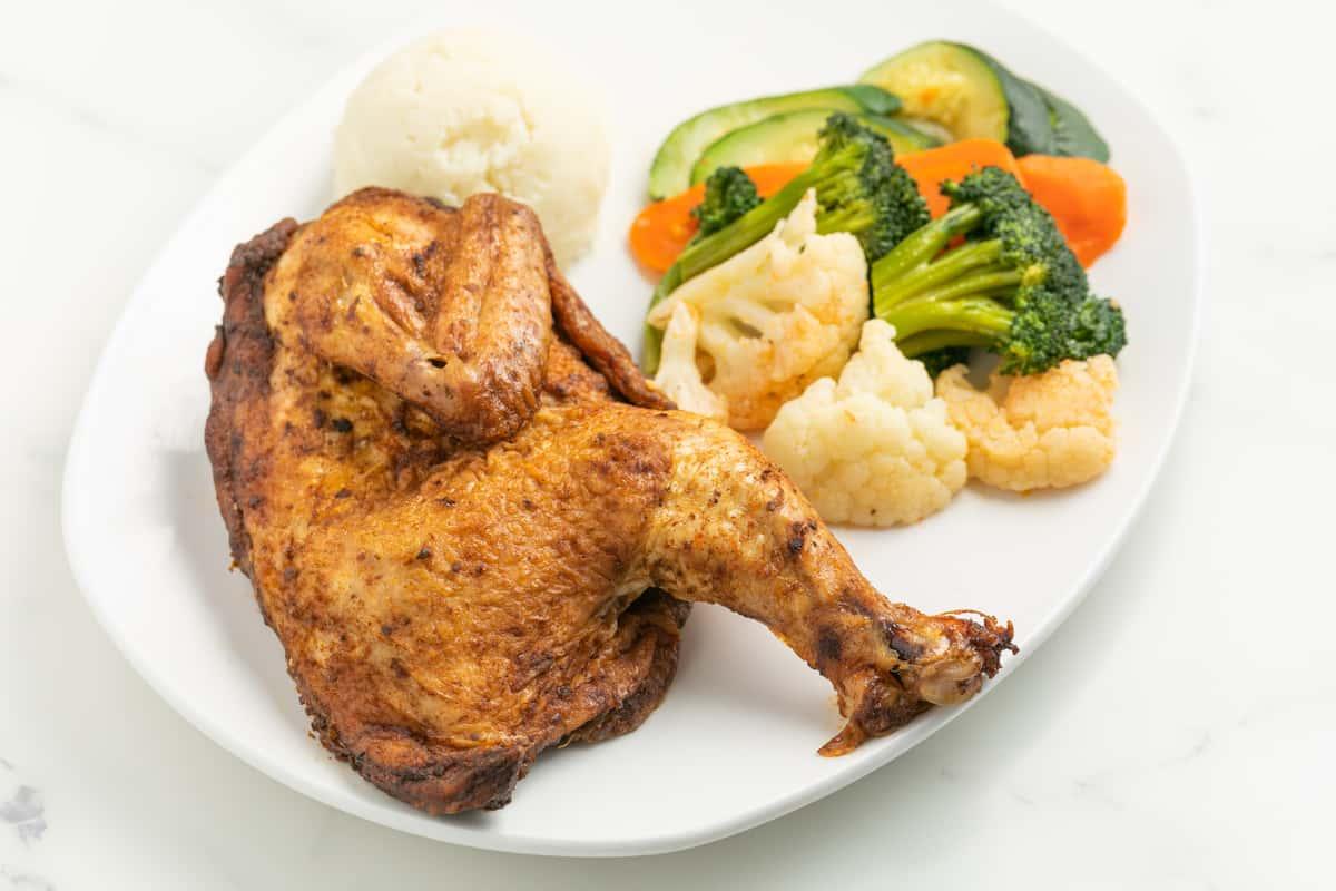 Free Range Half Rotisserie Rosemary Chicken