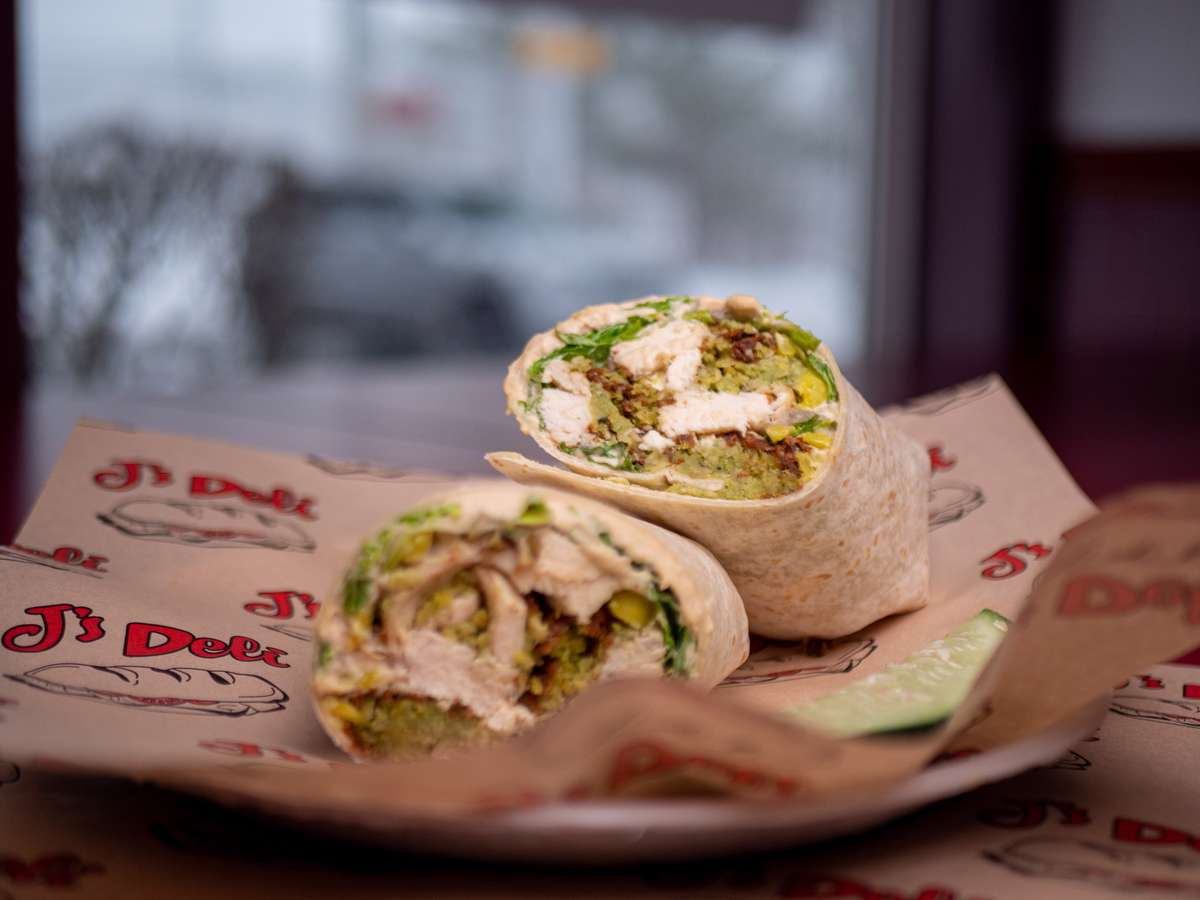 Grilled Chicken Falafel Wrap