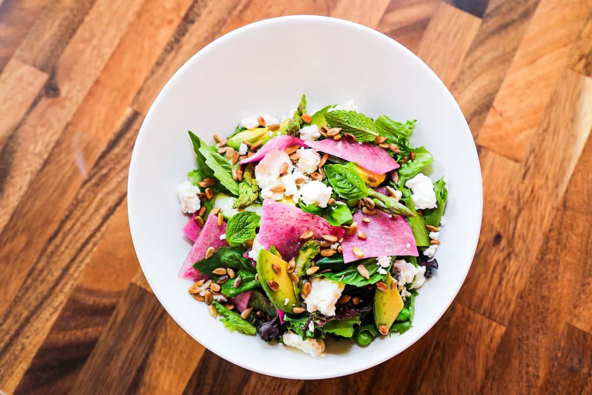 A Pop of Pink Summer Salad