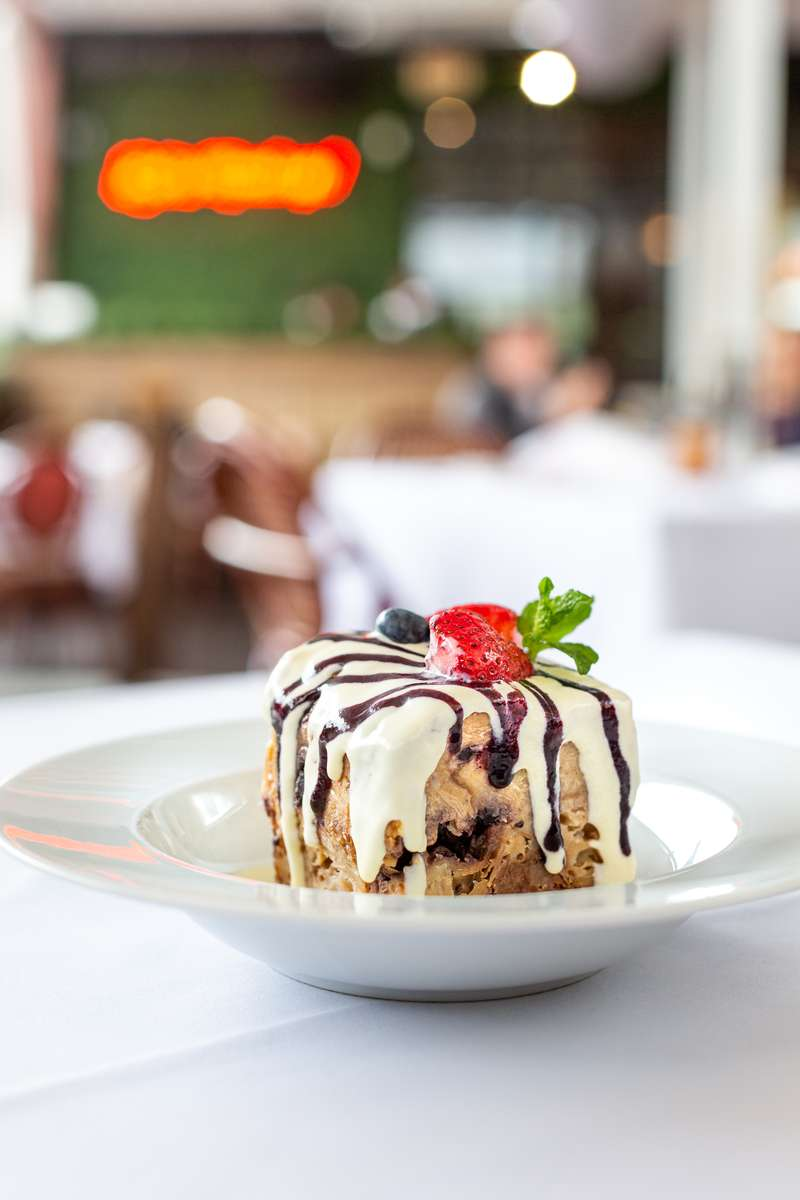 Coffee Cake Crumble Bread Pudding