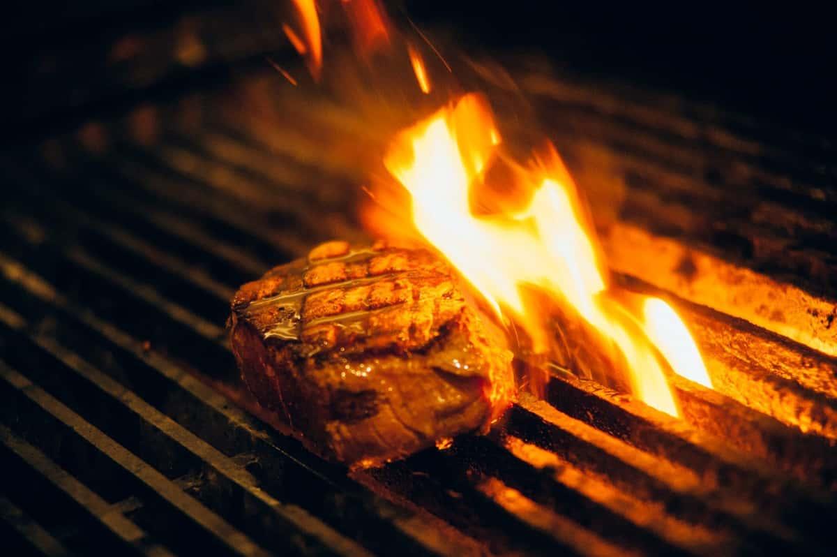 grill fired steak