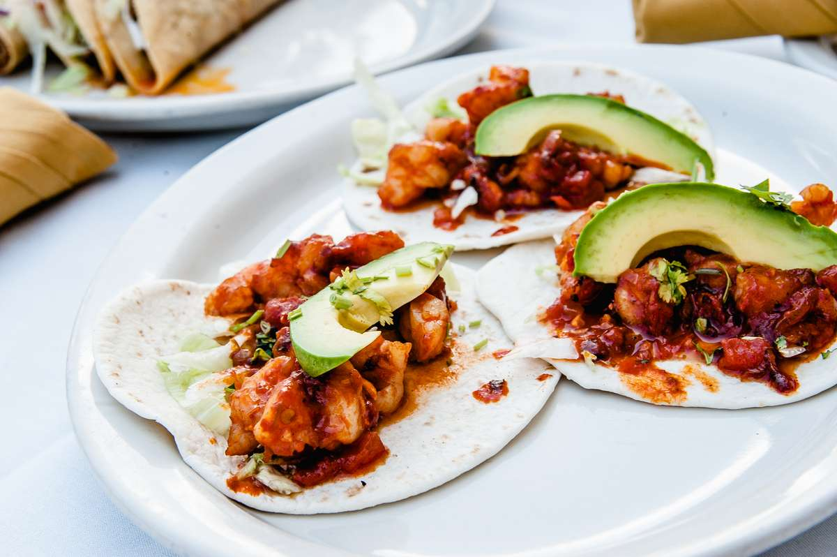 Shrimp Diabla Taco