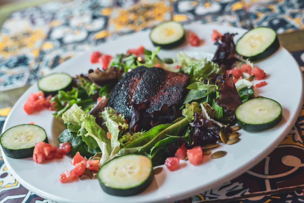 Grilled Salmon Filet Salad