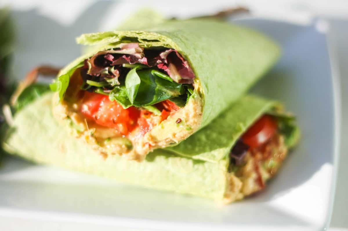 Veggie, Hummus, & Avocado Wrap