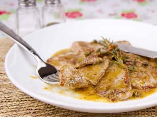 Pork Scallopini with Arugula Pesto Cream
