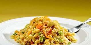 Red Quinoa and Cashew Pilaf