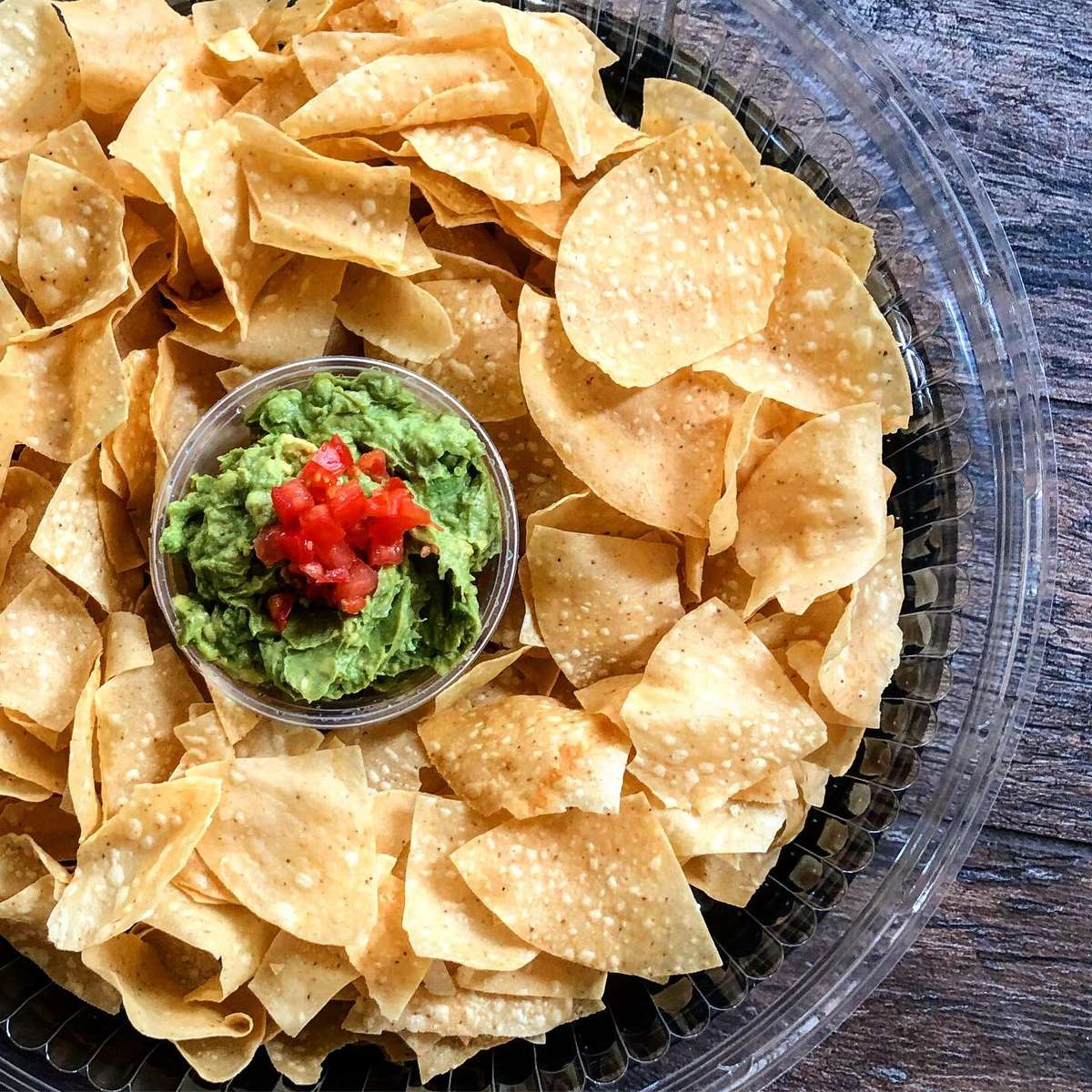 Chips and Traditional Guacamole