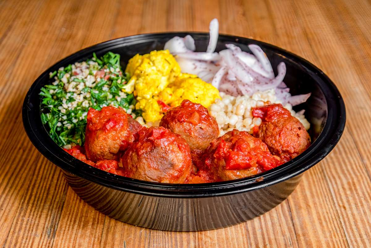 vegan meatball bowl