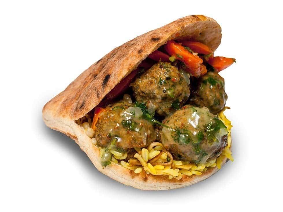 Turkish Meatball Pita