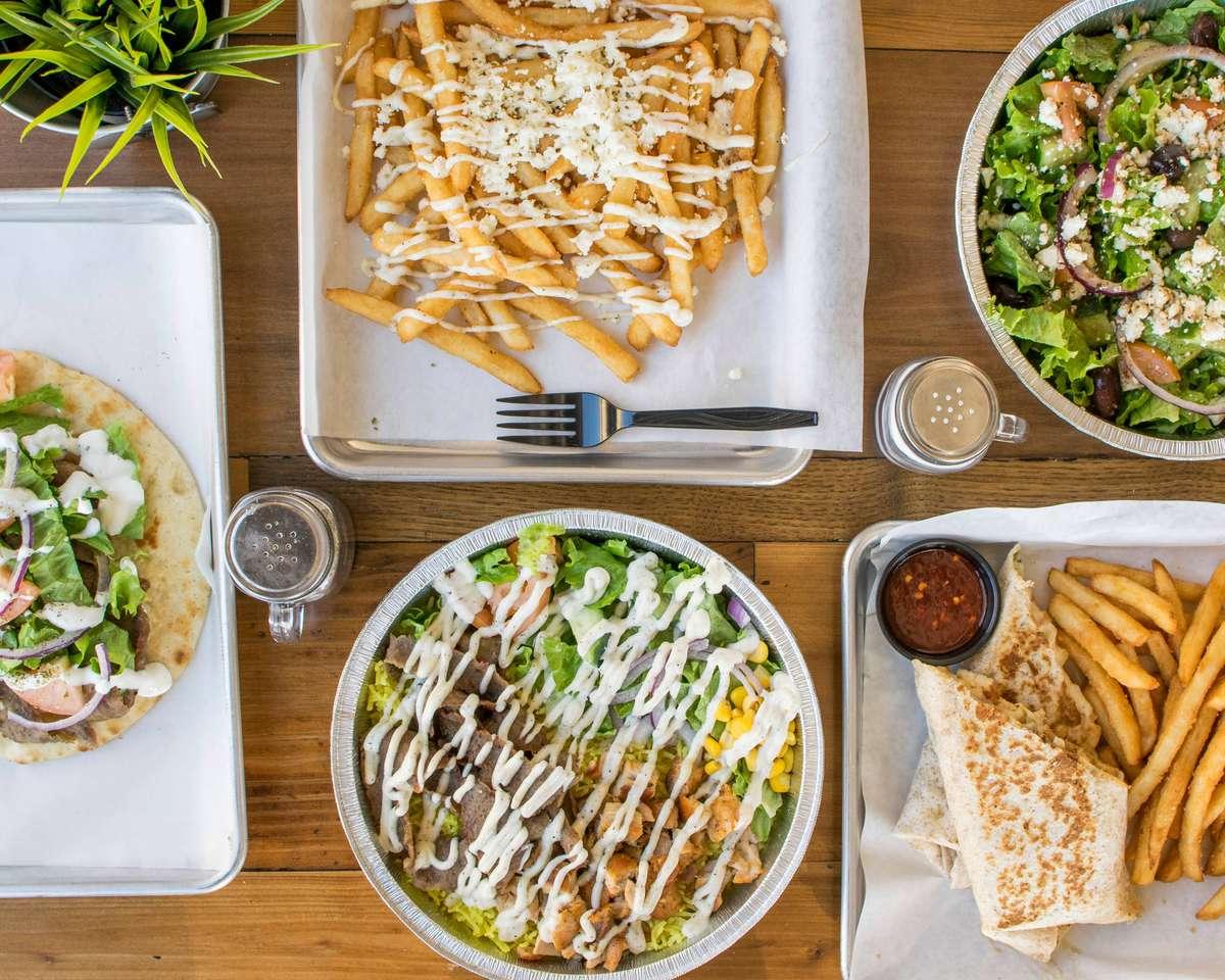 Gyro bowls and fries