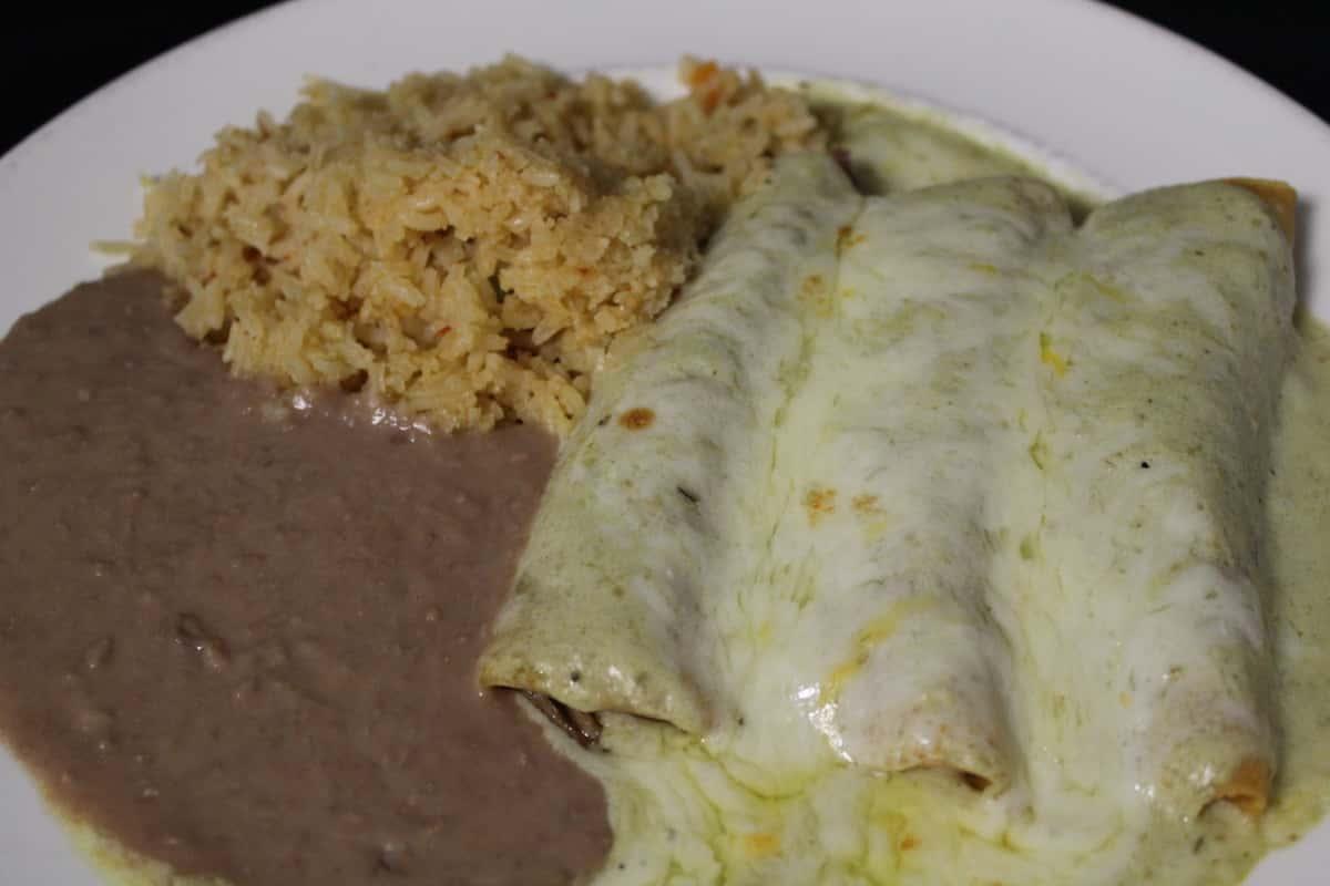 7. Two Chicken Enchiladas