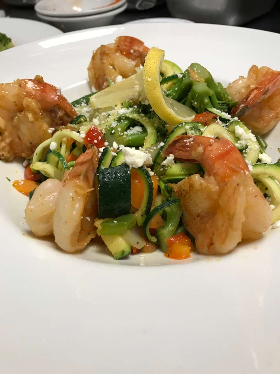 *Sauteed Shrimp over Zoodles