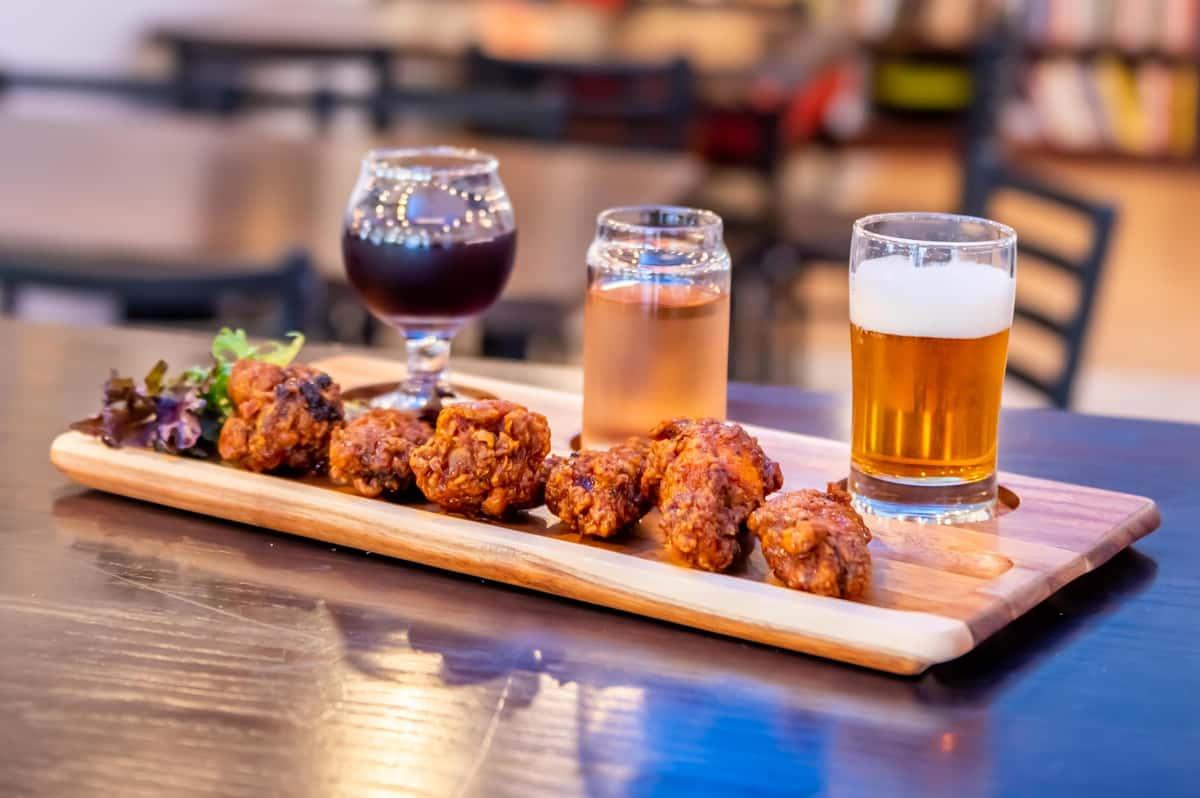Beer Sampler and Wings