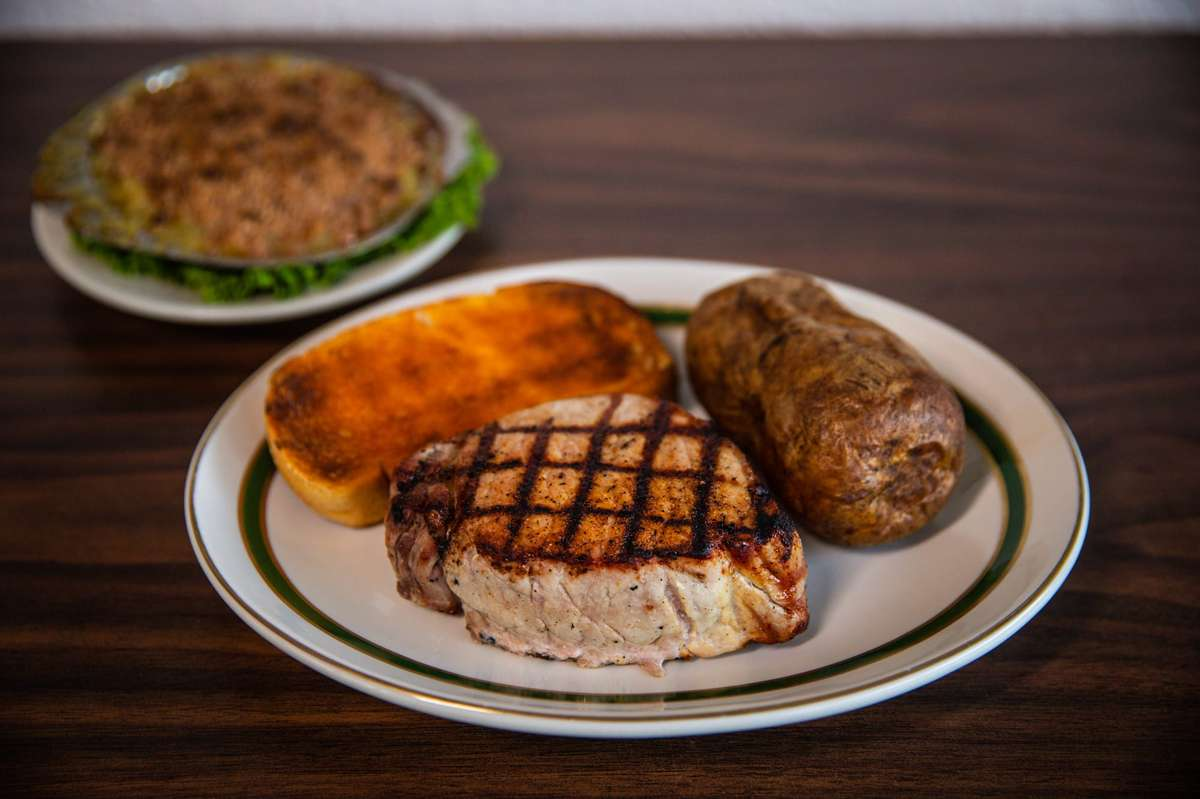 Double Thick Boneless Broiled Pork Chops
