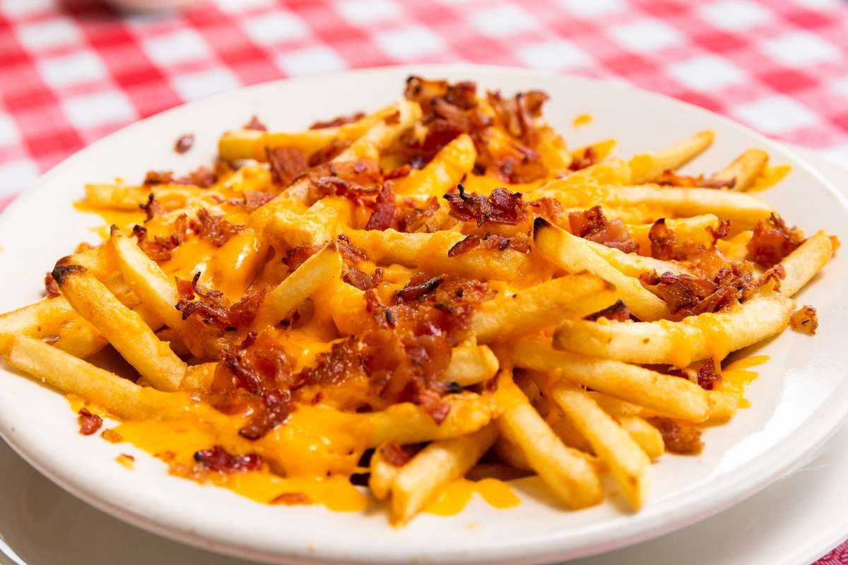 Basket of Fries with Bacon & Cheddar