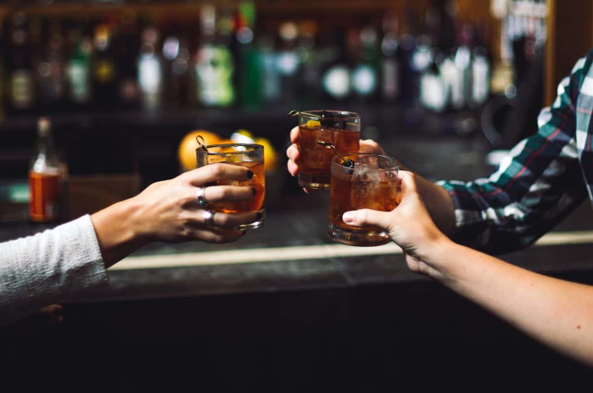 Group toasting drinks