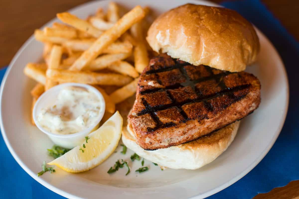 Charbroiled Cajun Tuna Steak Sandwich