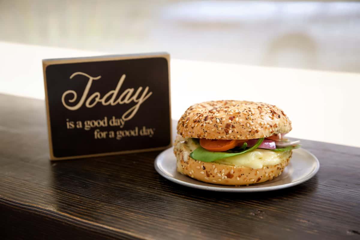 Veggie Bagel Breakfast Sandwich
