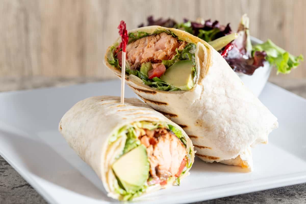 Salmon Avocado Wrap