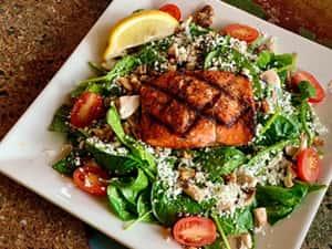 Salmon & Spinach Salad*