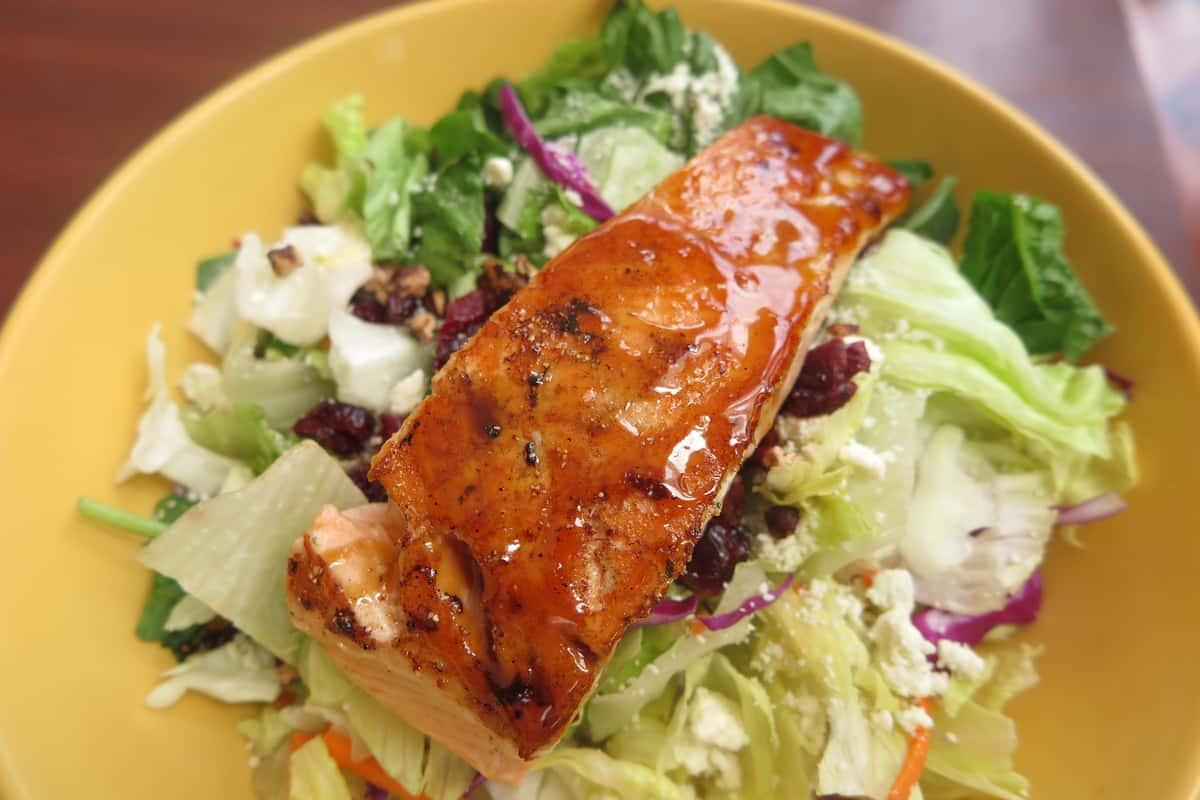 Bourbon Salmon Salad