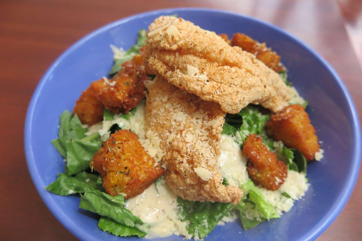 Catfish Caesar Salad