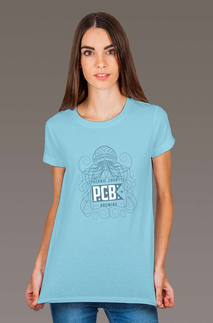 Jellyfish Blue Tee Shirts