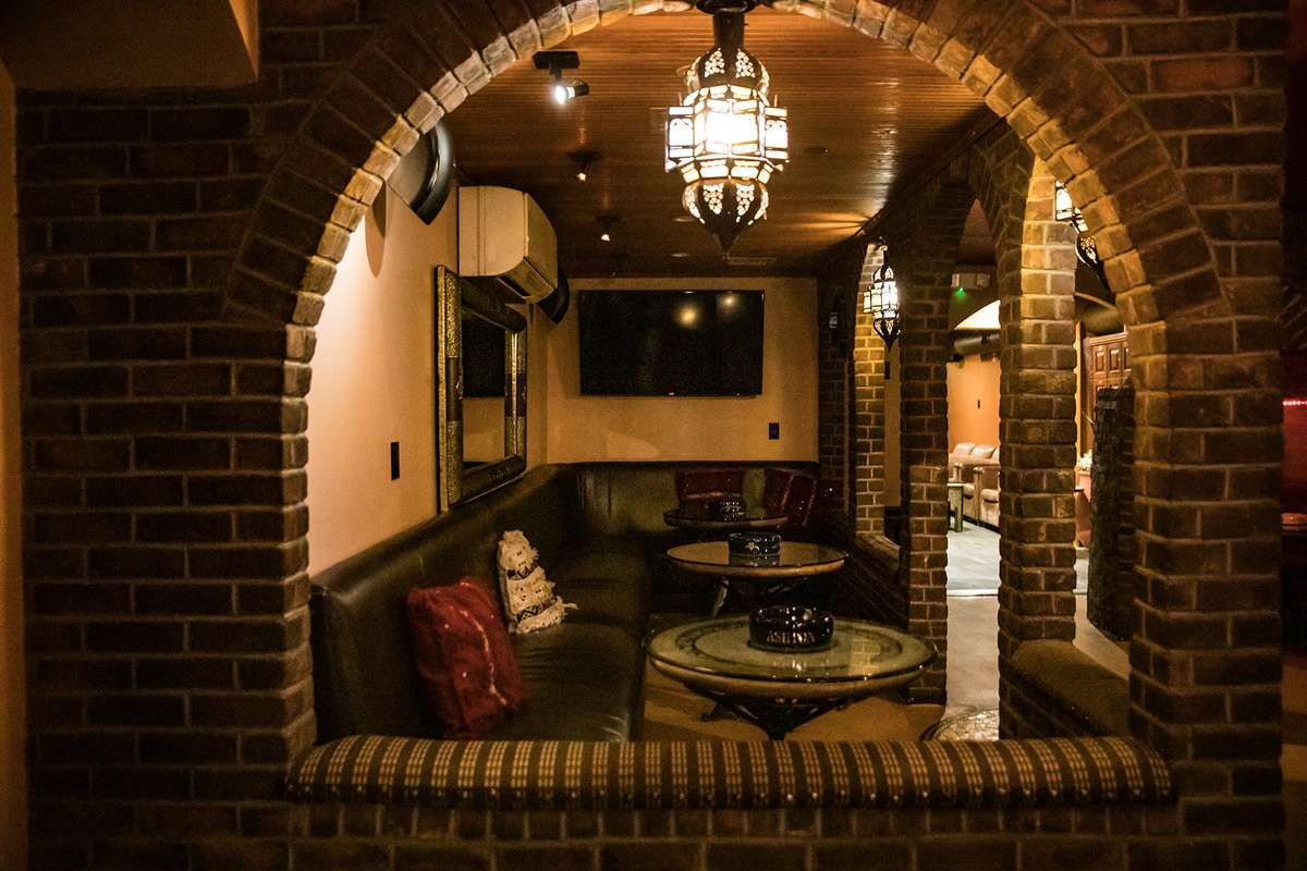 archway lounge area