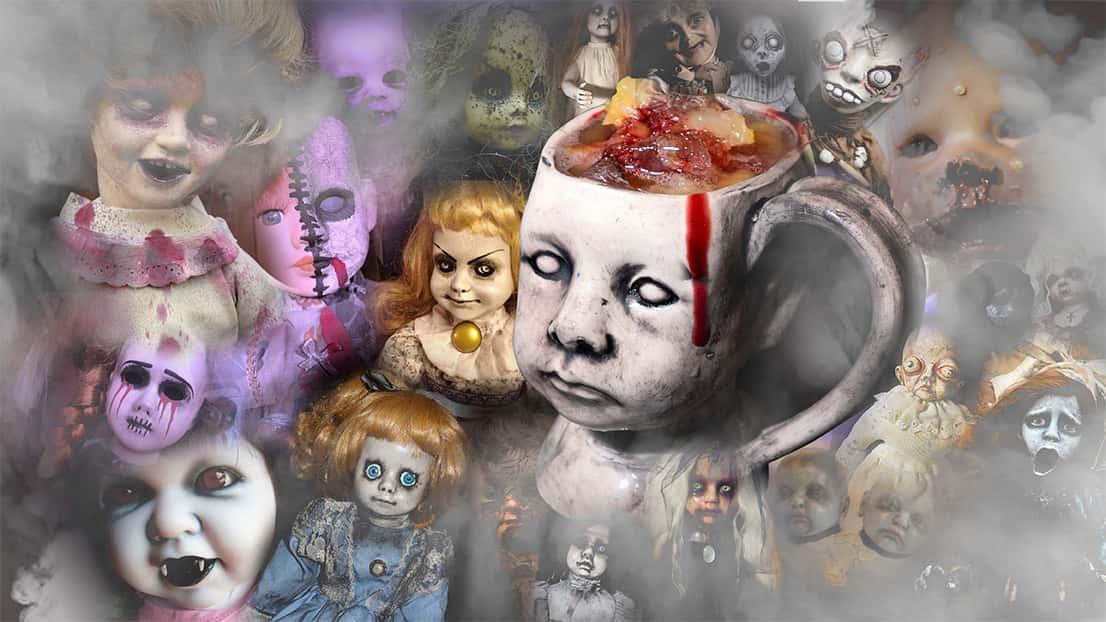 """All Dolled Up"" Creepy Doll Mug Cocktail"