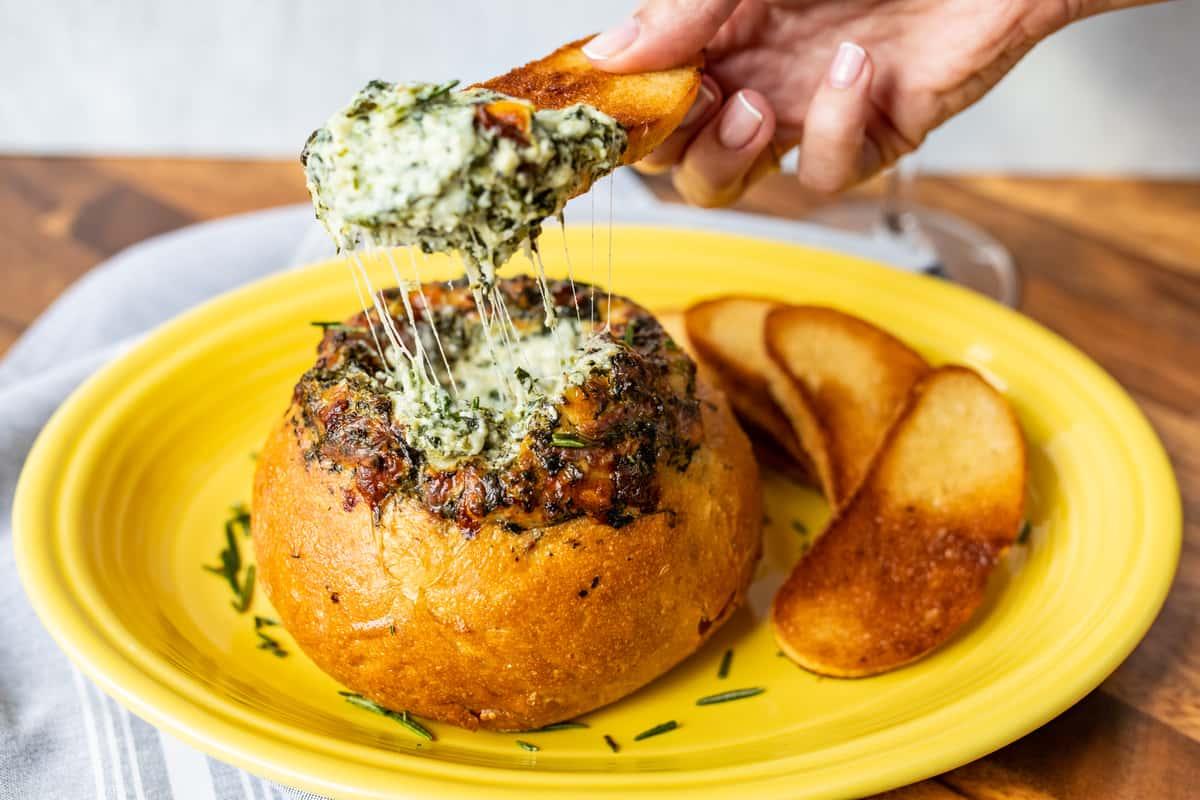 Italian Spinach & Cheese Dip