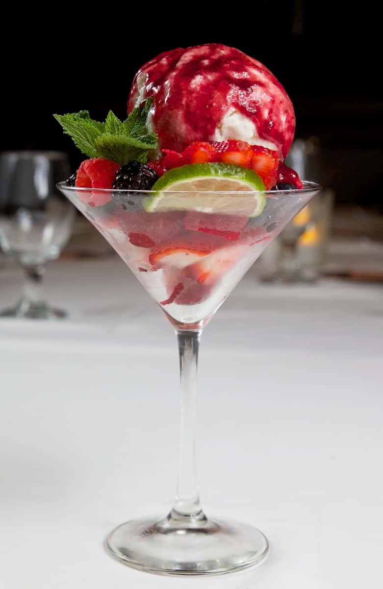 Berried-n-Cream Cheese Martini