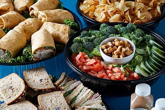 Lunch catering spread