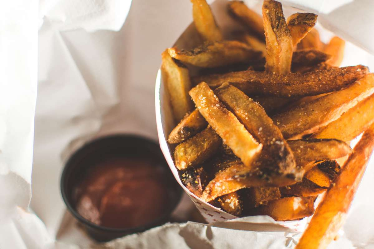 fries and sauce