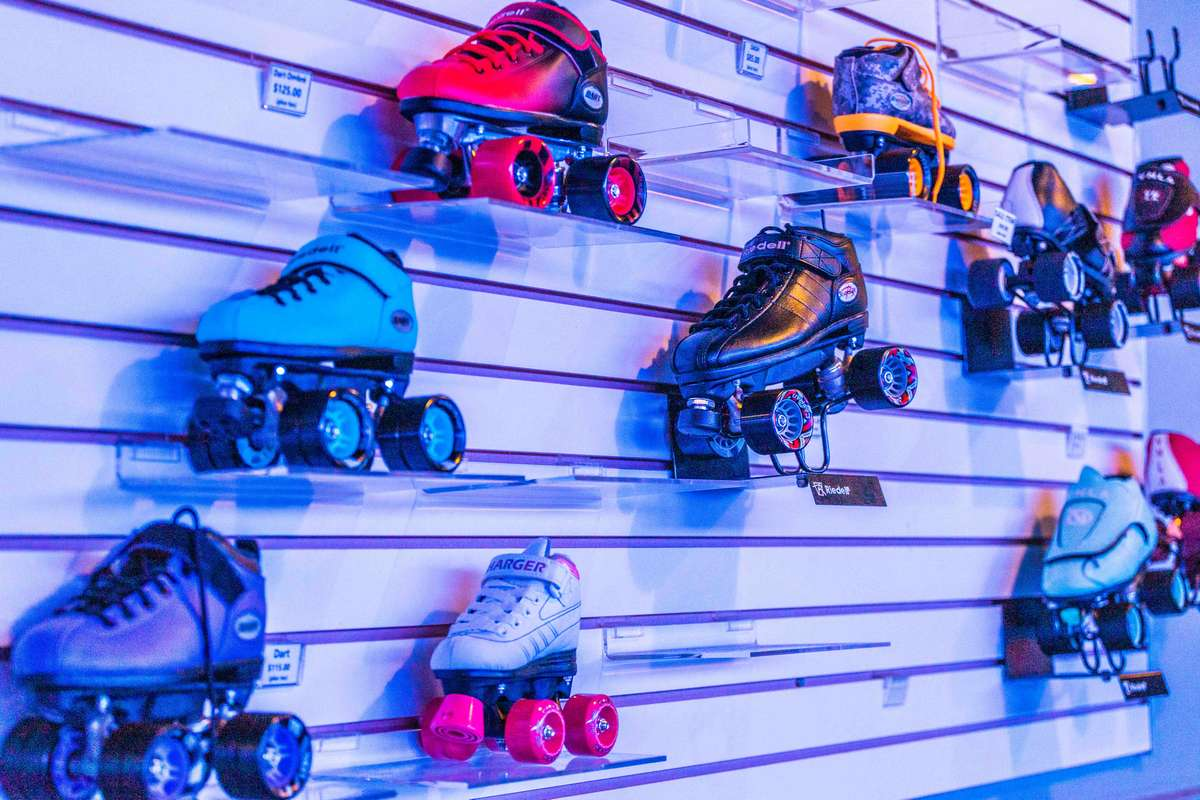 skates on the wall