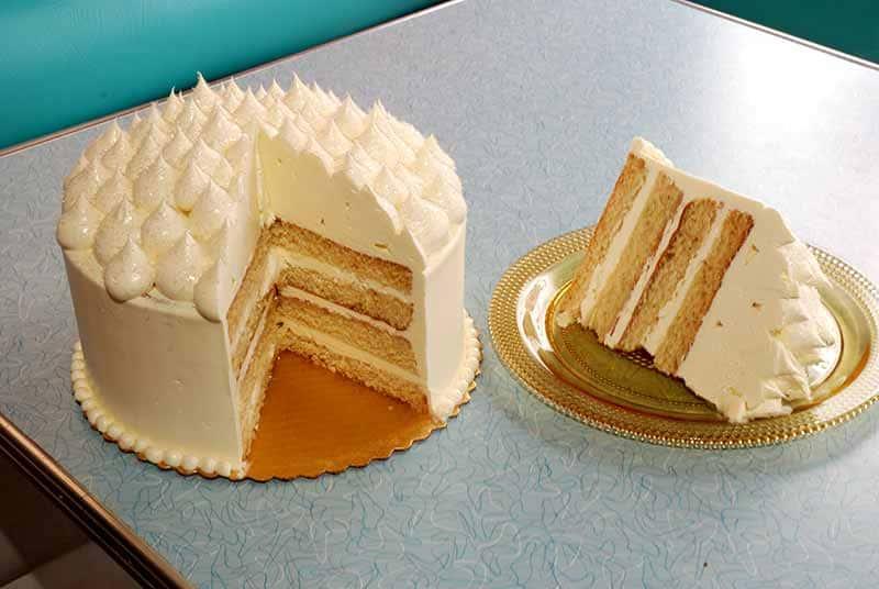 White Satin Cake