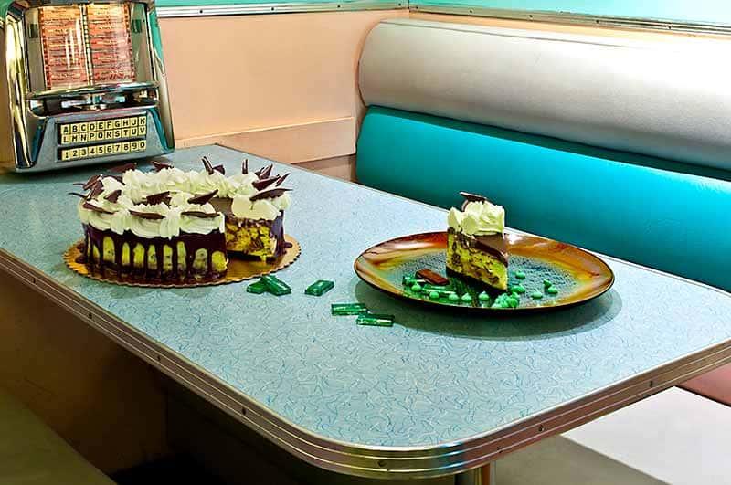 Grasshopper Creme De Menthe Cheesecake