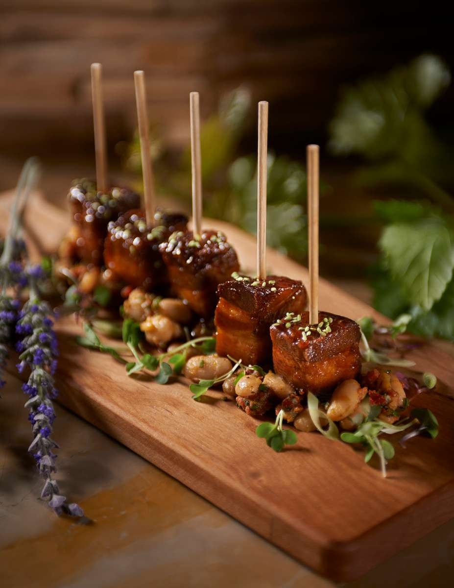 Crispy Kurobuta Pork Belly Lollipops