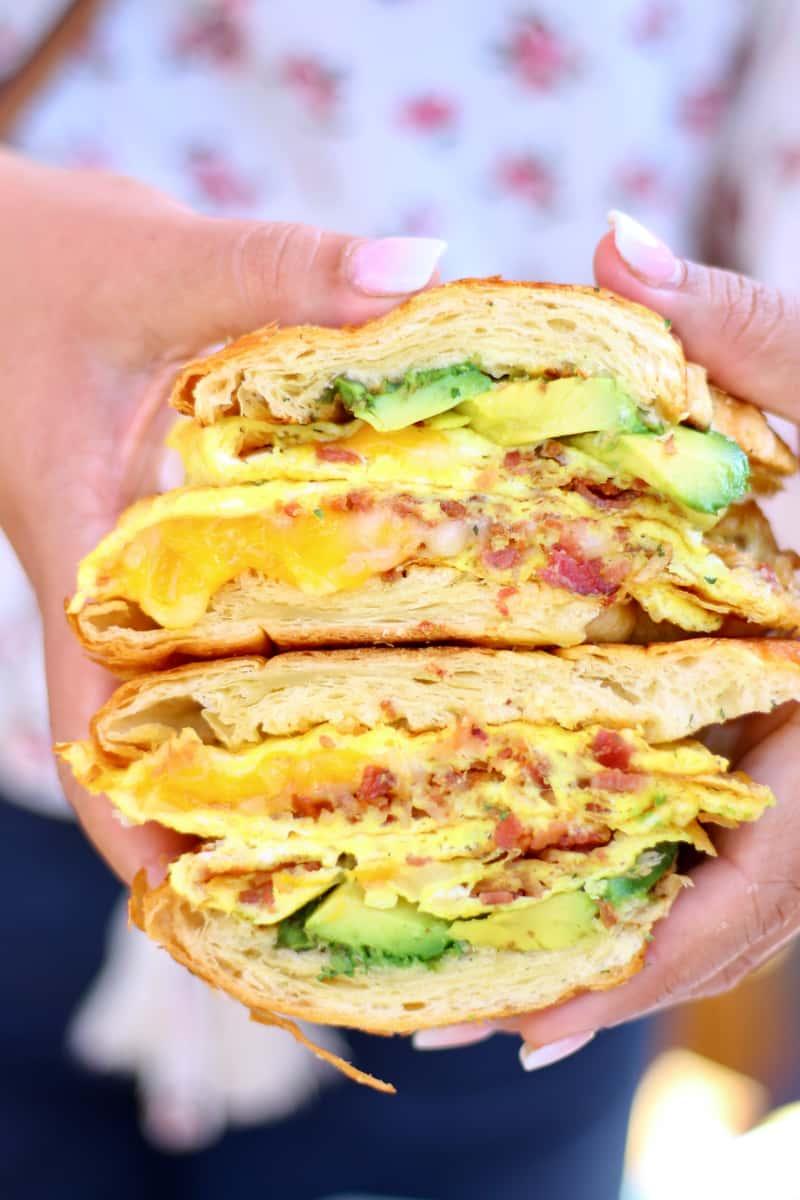 'ABC' Breakfast Croissant