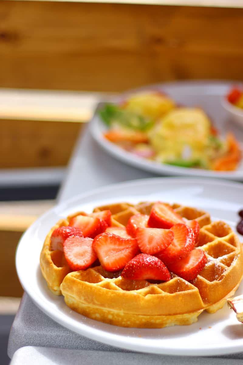 Belgian with Fresh Strawberries