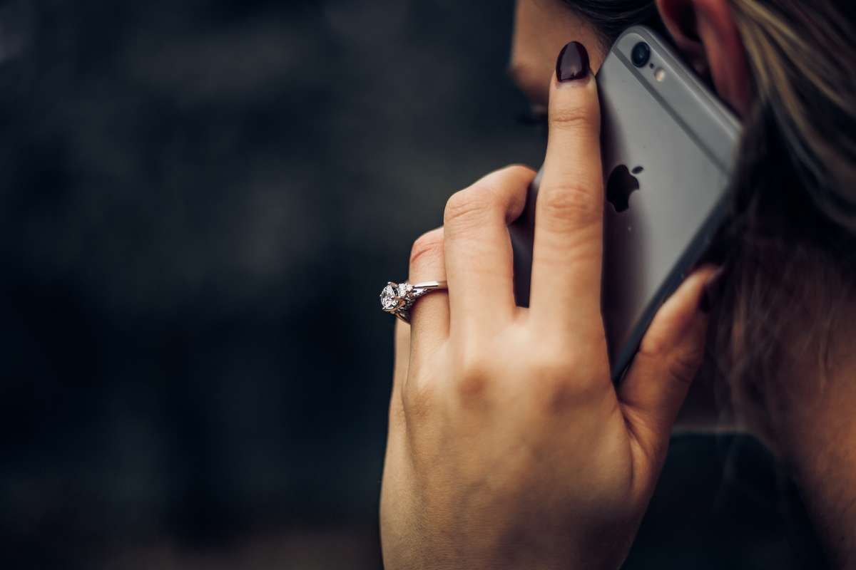 person making a call