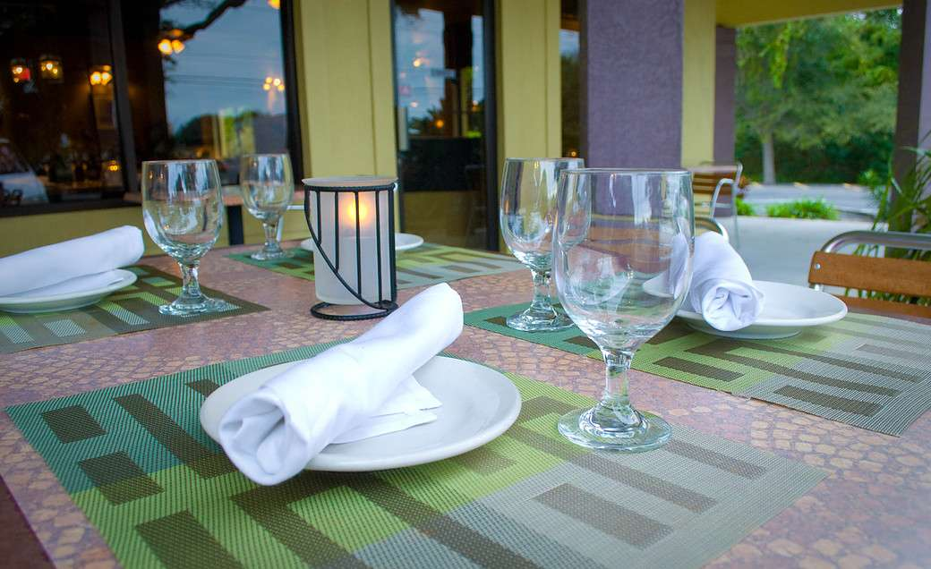 outdoor place setting