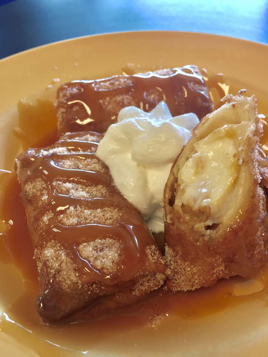 Dulce de Leche Cheesecake Chimichanga