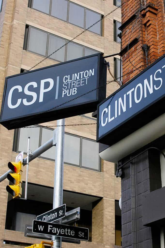 Clinton Street Pub sign