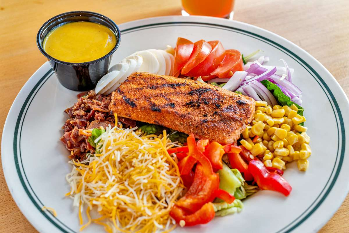 Blackened Salmon Salad*
